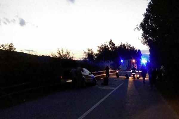 Po nehode na Bukovci.