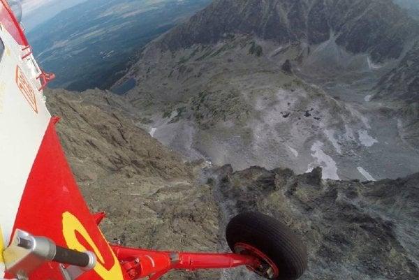 Zásah vrtuľníka v masíve Gerlachu.