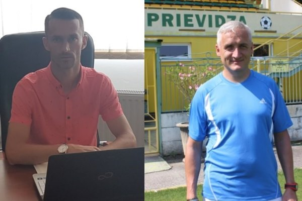 Zľava Martin Uríček (šéf Handlovej) a Robert Šuník (šéf Prievidze).