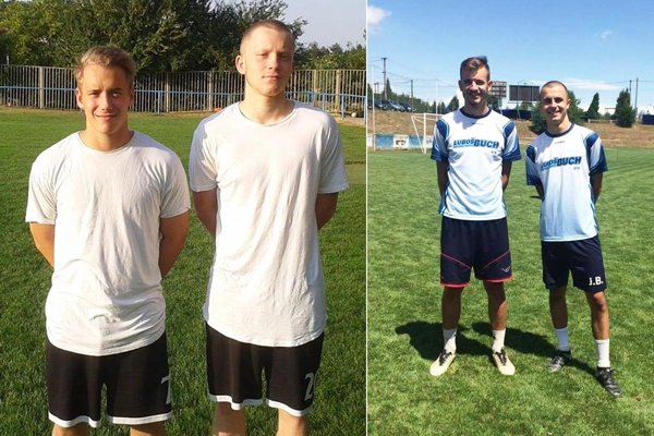 Odchovanci ČFK, bratia (dvojičky) Samuel a Tomáš Kováčikovci odštartujú seniorskú kariéru v Zbehoch. Do Ivanky sa z Alekšiniec vrátili odchovanci – bratia Matej a Jakub Blažiovci (vpravo).