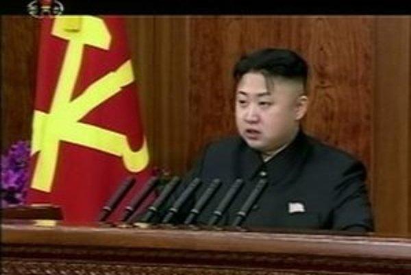 Na videosnímke severokórejský vodca Kim Čong-un.