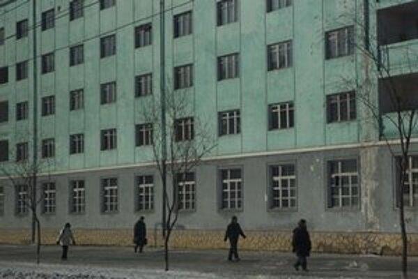 Na ulici v Pchjongjangu.