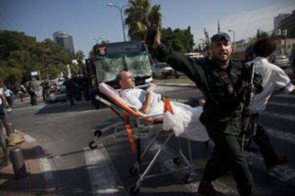 Teroristický útok v Tel Avive.