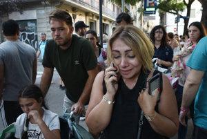 Vystrašení ľudia v centre Barcelony.