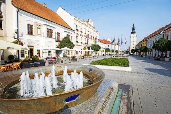 Centrum Trnavy je turistami vyhľadávané.