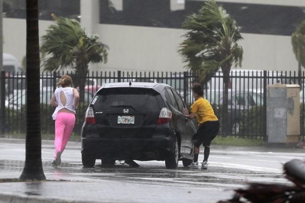 Hurikán Irma na Floride.