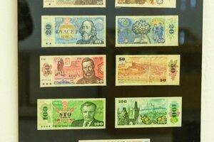 Československé bankovky z druhej polovice 20. storočia.