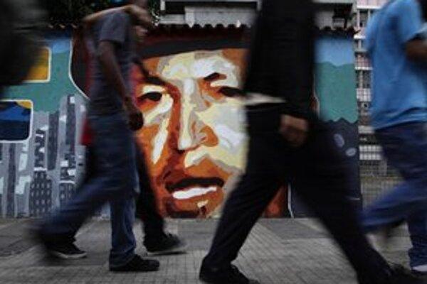 Grafity s podobizňou prezidenta v Caracase.
