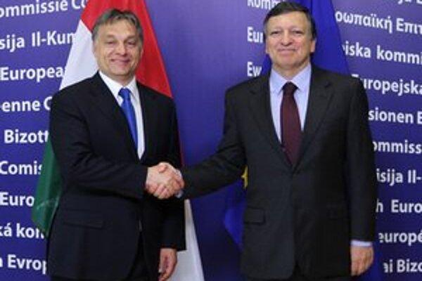 Viktor Orbán a predseda Európskej komisie Jose Manuel Barroso.