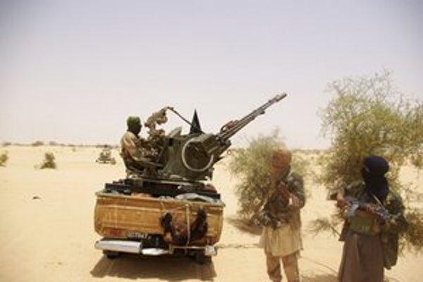 Jednotky v okolí mesta Timbuktu.