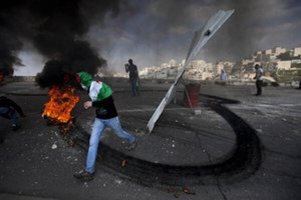 Nepokoje v jeruzalemskej štvrti Issawiyeh.