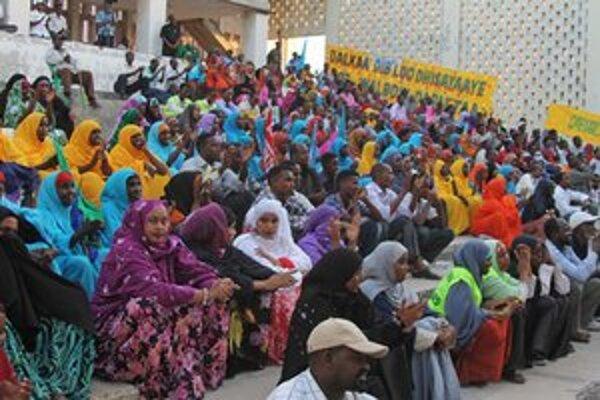 Interiér somálskeho národného divadla.