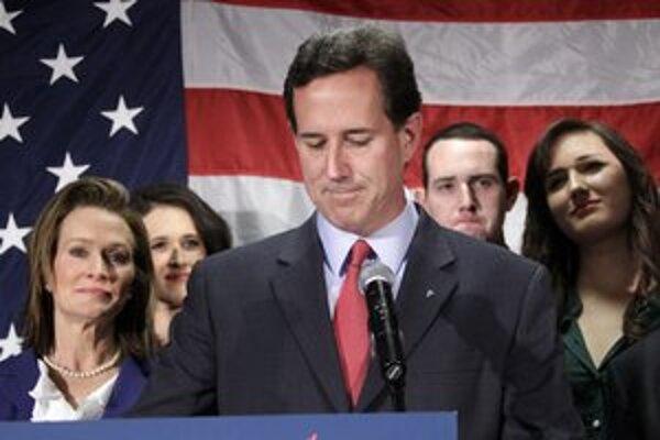 Santorum odstúpenie najprv zdôvodnil zdravotným stavom dcéry.