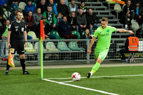 Kapitán Michal Škvarka sa prezentoval dvoma gólmi. Ilustračné foto.