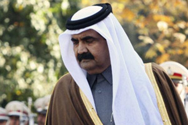 Katarský emir šejk Hamad ibn Chalífa as-Sání.
