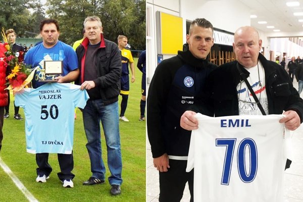 Miroslav Vajzer prijímal gratulácie na Dyčke, Emilovi Drinkovi vinšoval Martin Škrteľ.