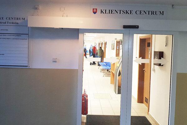 Klientske centrum vTvrdošíne je sprístupnené od septembra minulého roku.