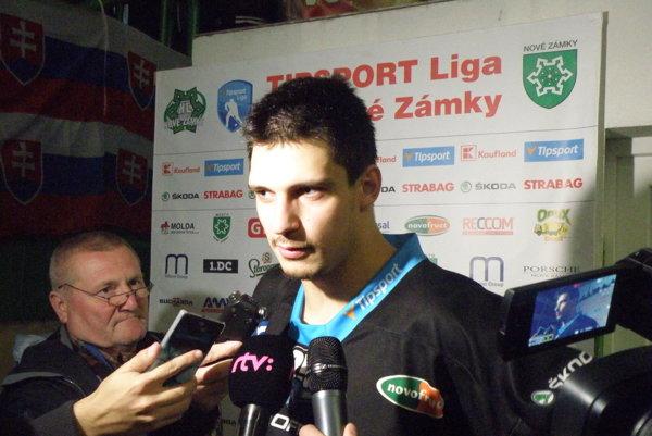 Eduard Šimun bol po derby s Nitrou stredobodom pozornosti novinárov.