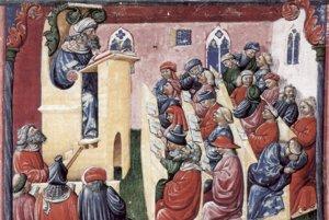 Výučba na stredovekej univerzite.