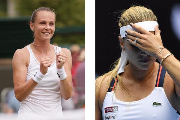 Magdaléna Rybáriková (vľavo) a Dominika CIbulková.