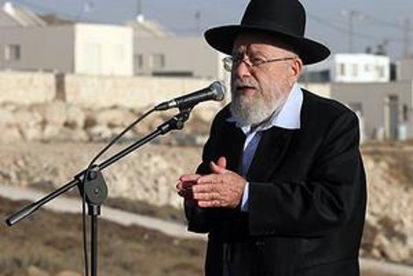 Rabín Dov Lior je ikonou radikálneho osadníckeho hnutia.