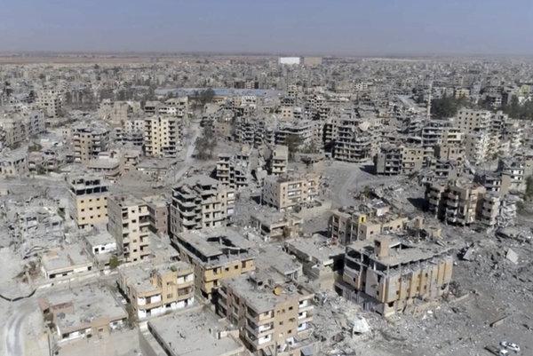 Sýrske mesto Rakka.