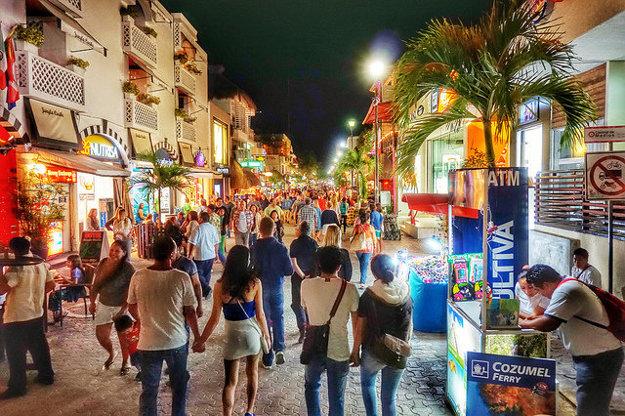 Playa del Carmen je obľúbeným letoviskom.