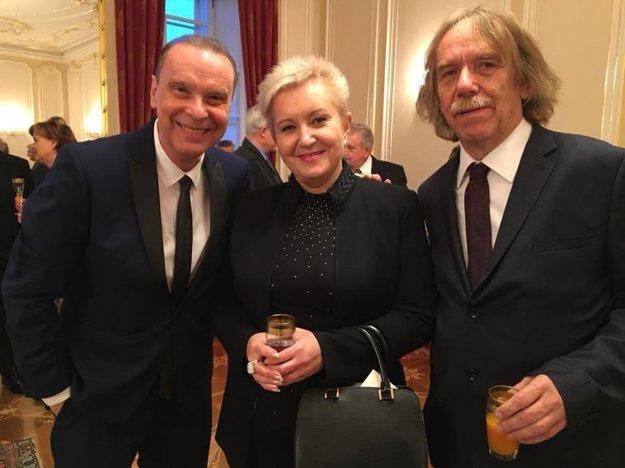 Štefan Margita, Eva Urbanová a Jaromír Nohavica na Pražskom hrade