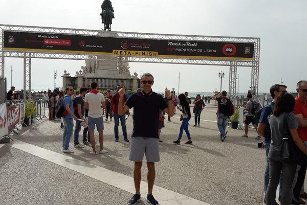Kamil Šramko v cieli lisabonského maratónu