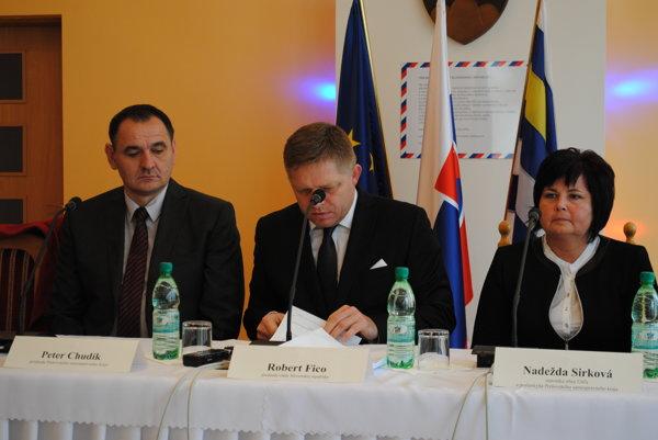 Nadežda Sirková na výjazdovom rokovaní vlády SR v Ubli v roku 2014.