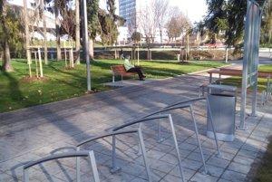 Vynovený bôrický park.
