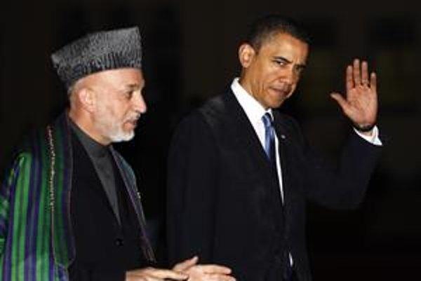 Barack Obama a jeho afgánsky kolega Hamíd Karzaj.