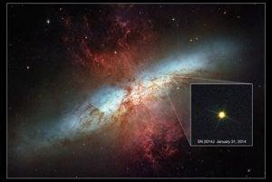Supernovu SN 2014J v galaxii Messier 82 zachytili vedci 21. januára 2014. Je to najbližšia supernova svojho typu k Zemi za posledných 40 rokov.