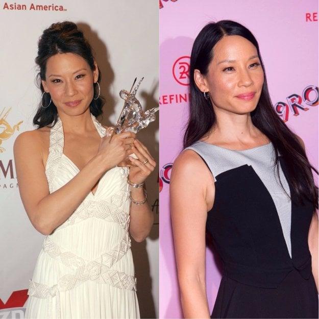 Lucy Liu v rokoch 2006 a 2017.