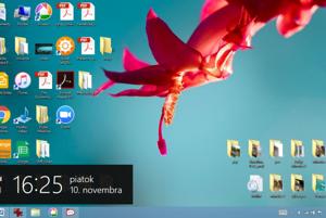 Vo Windows 8 alebo 8.1 priblížte kurzor k pravej časti obrazovky a vyberte poslednú položku Nastavenia.