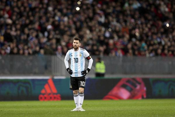 Lionel Messi na štadióne v Lužniky - ilustračná fotografia.