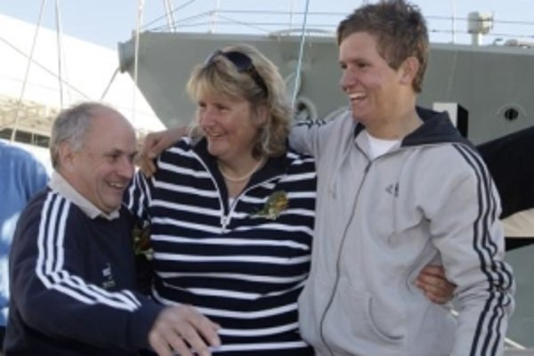 Rob Gauntlett s rodinou.