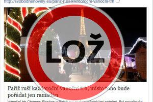 HOAX: Paríž ruší vianočné trhy, namiesto nich bude ramadán.