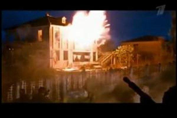 Zábery z upútavky na film Olympus inferno.