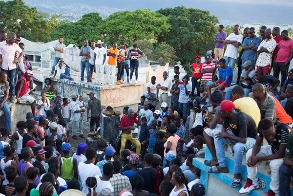Obyvatelia Haiti.