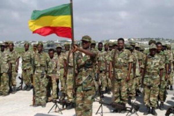 Etiópski vojaci na leteckej základni v somálskom hlavnom meste Mogadišo.