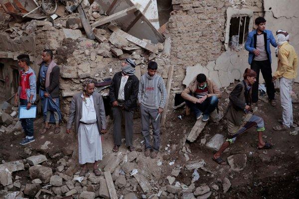 Obyvatelia mesta Sana, hlavného mesta Jemenu.