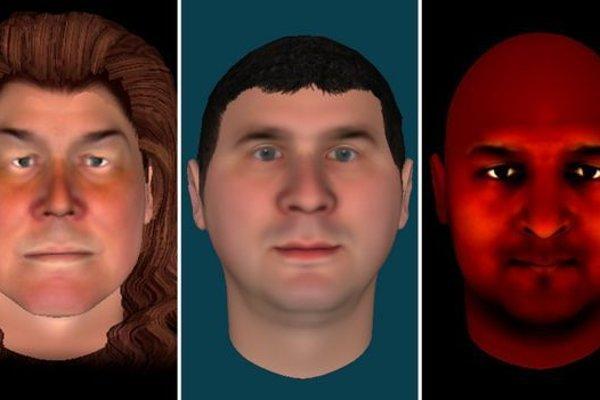 Tváre, ktoré priradili pacienti sluchovým halucináciám.