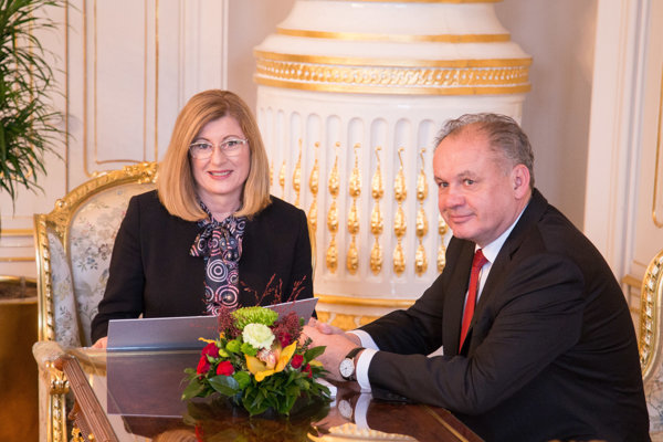 Gabriela Matečná a Andrej Kiska.