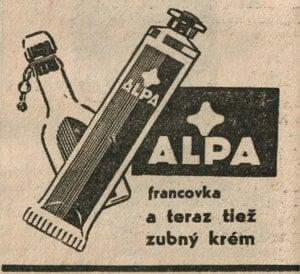 Dobová reklama – Francovka Alpa.