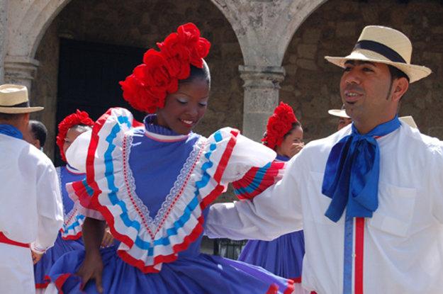 Slávnostné merengue v Dominikánskej republike
