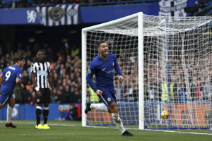 Hviezdou zápasu bol Eden Hazard, ktorý dal dva góly.