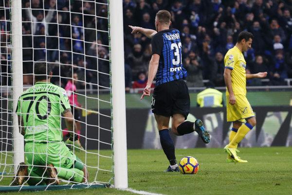 Milan Škriniar dal tretí gól za Inter Miláno.