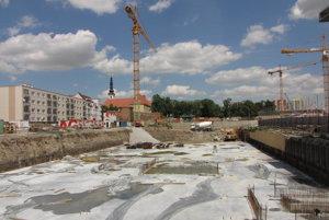 Z výstavby City Areny.