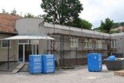 Starý dom kultúry počas rekonštrukcie.